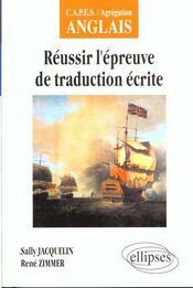 Reussir L'Epreuve De Traduction Ecrite Capes/Agregation Anglais - Intérieur - Format classique