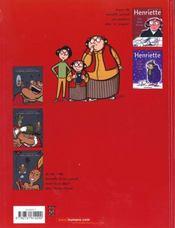 Le journal d'Henriette t.3 - 4ème de couverture - Format classique