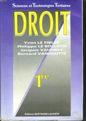 Droit 1re Stt - Ed 99 - Couverture - Format classique