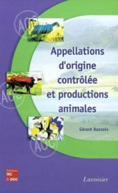 Appellations d'origine controlee et productions animales - Couverture - Format classique