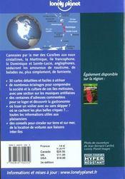 Martinique Dominique Et Sainte Lucie ; 3e Edition - 4ème de couverture - Format classique