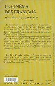 Le cinema francais - 4ème de couverture - Format classique