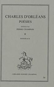 Poésies t.2 - Couverture - Format classique