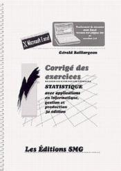 Statistique Avec Applications En Informatique, Gestion Et Production (Traitement De Donnees Avec Exc - Couverture - Format classique