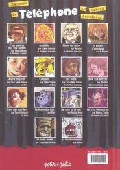 Chansons De Telephone En Bandes Dessinees - 4ème de couverture - Format classique