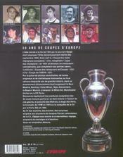 L'Equipe : 50 Ans De Coupes D'Europe - 4ème de couverture - Format classique