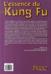 L'essence du kung fu - 4ème de couverture - Format classique