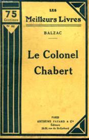 Le Colonel Chabert. Collection : Les Meilleurs Livres N° 86. - Couverture - Format classique