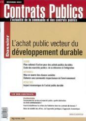 Revue Actualite Commande Contrats Publics N.72 - Couverture - Format classique
