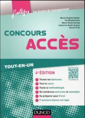 Concours Accès ; tout-en-un (4e édition) - Couverture - Format classique