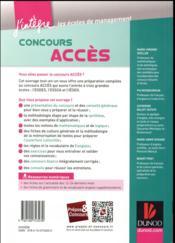 Concours Accès ; tout-en-un (4e édition) - 4ème de couverture - Format classique