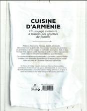 Cuisine d'Arménie - 4ème de couverture - Format classique