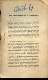 LES INTELLECTUELS ET LE SOCIALISME - EXTRAIT DE L'AVENIR - N°? - AOUT 1921 - 6e année. - Couverture - Format classique