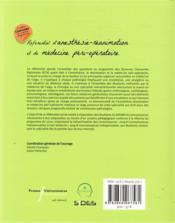 Référentiel d'anesthésie-réanimation et de médecine péri-opératoire (2e édition) - 4ème de couverture - Format classique