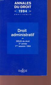 Droit Administratif 1994 - Couverture - Format classique