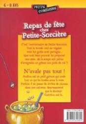 Repas de fête chez Petite-Sorcière ; n'avale pas tout - 4ème de couverture - Format classique