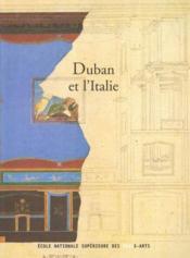 Duban et l'italie - Couverture - Format classique