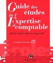 Guide des etudes. expertise comptable : dpecf, decf, descf, stage, dec - Intérieur - Format classique