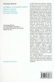 Le foetus, un singulier patient - 4ème de couverture - Format classique