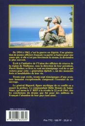 Generation djebels ; la guerre d'algerie 1954-1962 - 4ème de couverture - Format classique