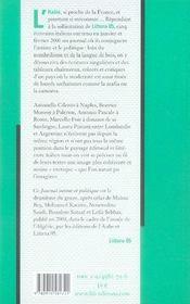 Journal intime et politique ; italie - 4ème de couverture - Format classique