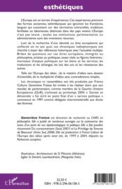 L'Europe des idées ; touriste en démocratie ; chronique d'une élue du parlement européen 1999-2004 - 4ème de couverture - Format classique