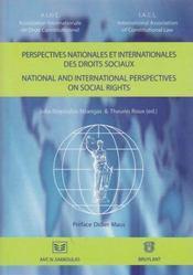 Perspectives nationales et internationales des droits sociaux - Couverture - Format classique