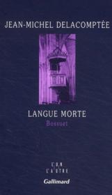 Langue morte - Couverture - Format classique