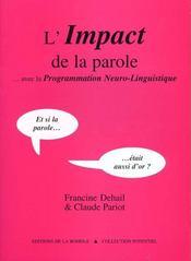 L'Impact De La Parole - Intérieur - Format classique