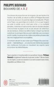 Bouvard de A à Z - 4ème de couverture - Format classique
