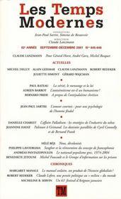Revue Les Temps Modernes N.645 - Intérieur - Format classique