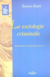 La sociologie criminelle - Intérieur - Format classique