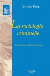 La sociologie criminelle - Couverture - Format classique