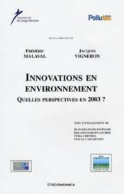 Innovations en environnement - Couverture - Format classique