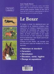 Le Boxer - 4ème de couverture - Format classique