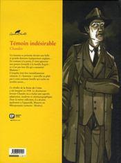 Agatha Christie t.14 ; témoin indésirable - 4ème de couverture - Format classique