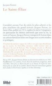 Le saint-elias - 4ème de couverture - Format classique