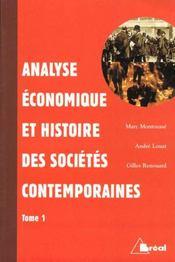 Analyse economique et histoire des societes contemporaines t.1 - Intérieur - Format classique