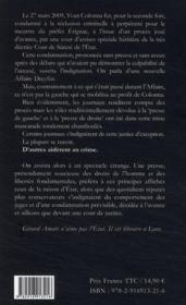 L'affaire Colonna ; une bataille de presse - 4ème de couverture - Format classique