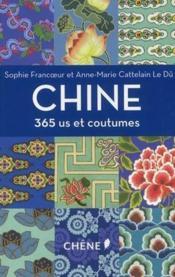 Chine - 365 us et coutumes - Couverture - Format classique