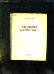 Chambard A Pontodru. - Couverture - Format classique