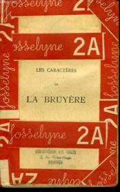 Les Caracteres La Bruyere. - Couverture - Format classique