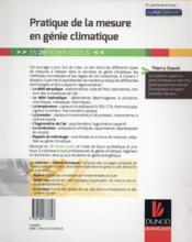 Pratique de la mesure en génie climatique ; 33 fiches-outils - 4ème de couverture - Format classique