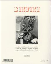 Revue L'Infini N.134 - 4ème de couverture - Format classique