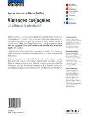 Violences conjugales : un défi pour la parentalité - 4ème de couverture - Format classique