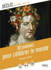 30 poèmes pour célébrer le monde - Couverture - Format classique