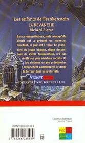 Enfants Frankenstein T.2 La Revanche - 4ème de couverture - Format classique