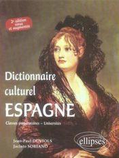 Dictionnaire culturel espagne - Intérieur - Format classique