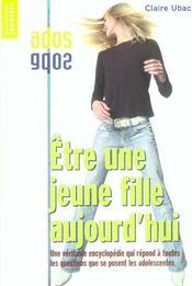 Etre Une Jeune Fille Aujourd'Hui Nelle Ed - Intérieur - Format classique