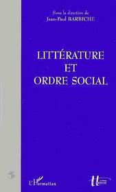 Litterature Et Ordre Social - Intérieur - Format classique